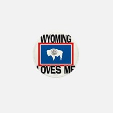 Wyoming Loves Me Mini Button (10 pack)