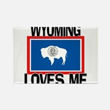 Wyoming Loves Me Rectangle Magnet