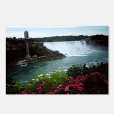 Unique Niagara falls pink girl Postcards (Package of 8)