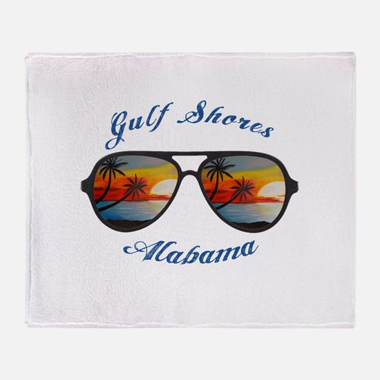 Alabama - Gulf Shores Throw Blanket