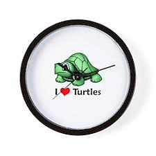 I Love Turtles Wall Clock