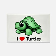 I Love Turtles Rectangle Magnet