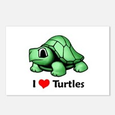 I Love Turtles Postcards (Package of 8)