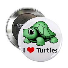 "I Love Turtles 2.25"" Button"