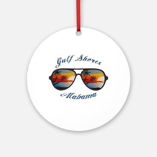 Alabama - Gulf Shores Round Ornament