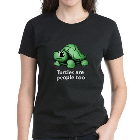 Turtles Are People Too Women's Dark T-Shirt