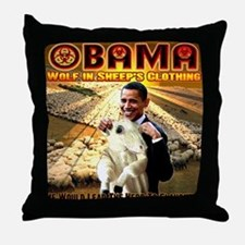 anti obama Throw Pillow