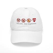 Live Love...Live Vegetarian Baseball Baseball Cap