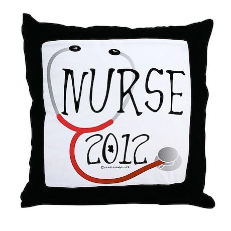 Nurse 2012 Throw Pillow