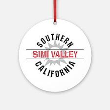 Simi Valley California Ornament (Round)