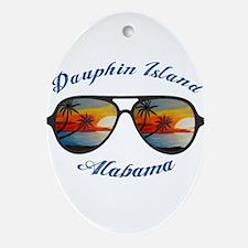 Alabama - Dauphin Island Oval Ornament