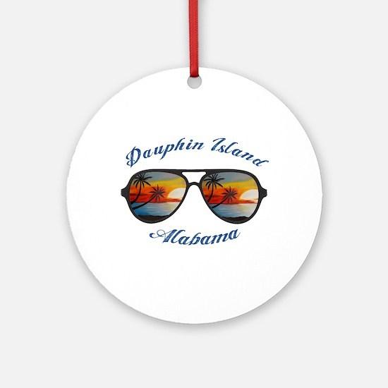 Alabama - Dauphin Island Round Ornament