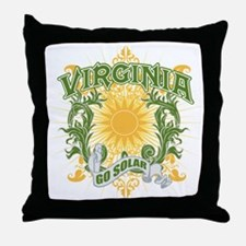 Go Solar Virginia Throw Pillow