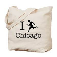 I Run Chicago Tote Bag
