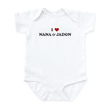 I Love NANA & JADON Infant Bodysuit