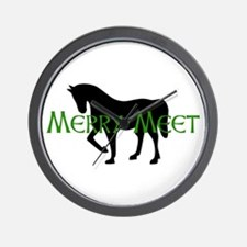 Merry Meet Spirit Horse Wall Clock