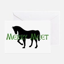 Merry Meet Spirit Horse Greeting Card