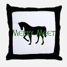 Merry Meet Spirit Horse Throw Pillow