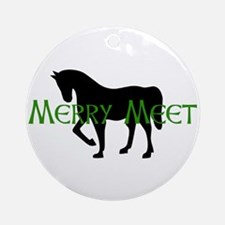 Merry Meet Spirit Horse Ornament (Round)