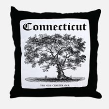 The Old Charter Oak Throw Pillow