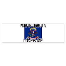 North Dakota Loves Me Bumper Bumper Sticker