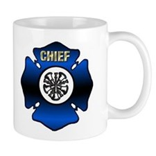 Fire Chief Gold Maltese Cross Mug