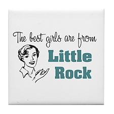 Best Girls Little Rock Tile Coaster