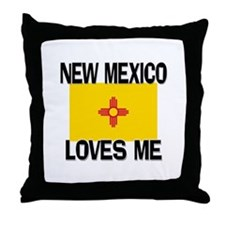 New Mexico Loves Me Throw Pillow