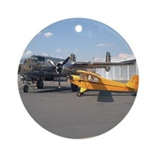Piper Cub and B-25 Mitchell Keepsake (Round)