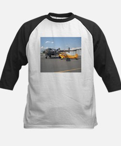 Piper Cub and B-25 Mitchell Kids Baseball Jersey