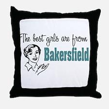 Best Girls Bakersfield Throw Pillow