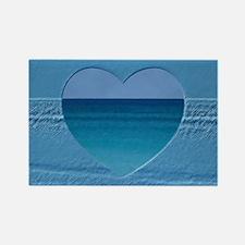 Tropical Paradise Heart Rectangle Magnet