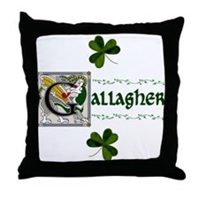 Gallagher Celtic Dragon Throw Pillow
