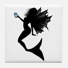 Aquamarine Mermaid Tile Coaster