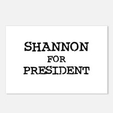 Shannon for President Postcards (Package of 8)