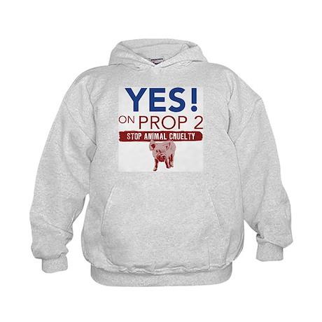 YES ON PROP 2 Kids Hoodie
