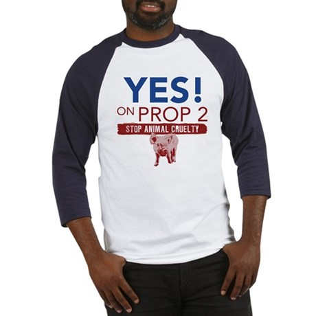 YES ON PROP 2 Baseball Jersey