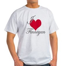 I love (heart) Finnegan T-Shirt