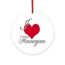 I love (heart) Finnegan Ornament (Round)