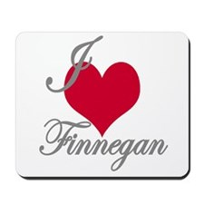 I love (heart) Finnegan Mousepad