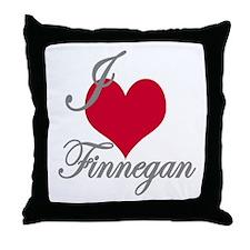 I love (heart) Finnegan Throw Pillow