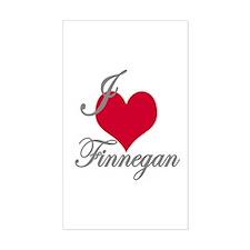 I love (heart) Finnegan Rectangle Decal