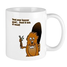 Cute Beaver cartoon Mug