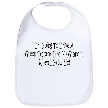 Green Tractor Like My Grandpa Bib
