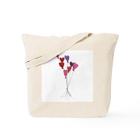 Balloon Hearts Tote Bag