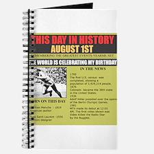 august 1st-birthday Journal