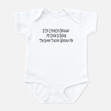 Uncles Green Tractor Infant Bodysuit