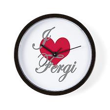 I love (heart) Fergi Wall Clock