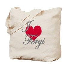 I love (heart) Fergi Tote Bag