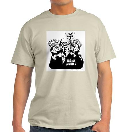 White Power Ash Grey T-Shirt
